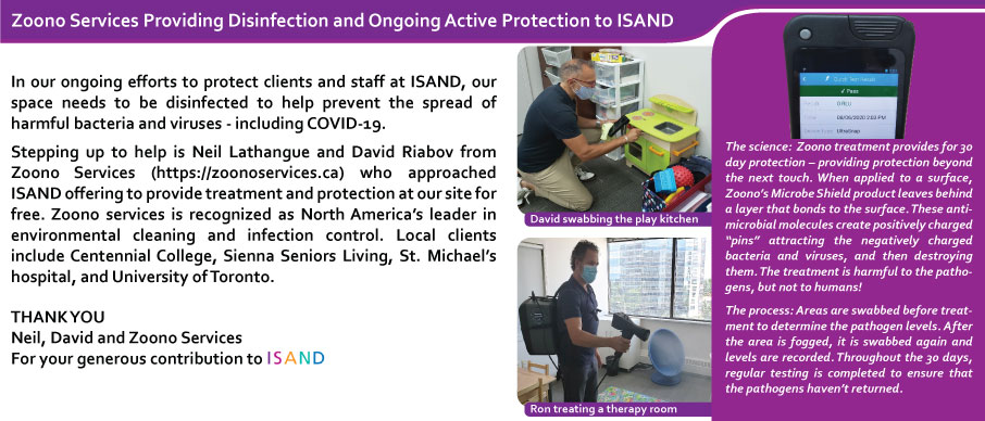 Zoono Services Providing Disinfection and Ongoing Active Protection to ISAND